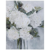 White Flowers Canvas Wall Decor