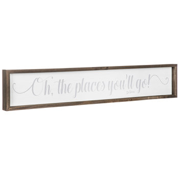 Oh The Places You'll Go Wood Wall Decor
