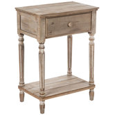 Light Brown Wood Accent Table