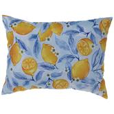 Blue Lemon Blossoms Pillow