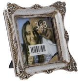 """Silver Rustic Frame With Deco Edge - 3"""" x 3"""""""
