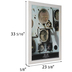 Distressed White Wood Wall Frame - 20
