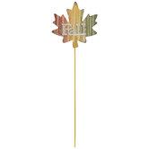 Fall Leaf Metal Pick