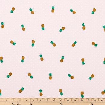 Pineapple Polka Dot Apparel Fabric