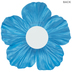 Bright Blue Hibiscus Flower Adhesive Wall Decor - Large