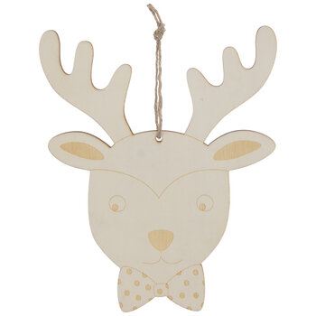 Reindeer With Bow Tie Ornaments