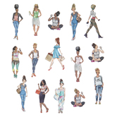 Fashionable Ladies Stickers