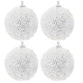 Tinsel Confetti Ball Ornaments