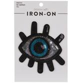 Metallic Sequin Eye Iron-On Applique