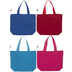Assorted Woven Canvas Tote Bag