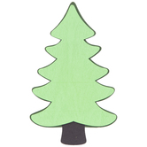 Evergreen Tree Painted Shape
