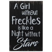 Girl Without Freckles Wood Wall Decor