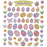 Foil Trim Easter Eggs Stickers