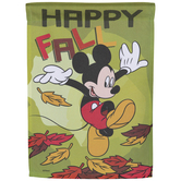 Happy Fall Mickey Mouse Garden Flag