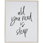All You Need Is Sleep Wood Wall Decor