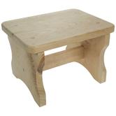 Wood Rectangle Stool