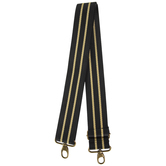 Black & Gold Striped Handbag Strap