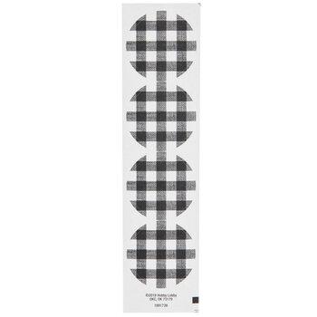 Black & White Buffalo Check Envelope Seals