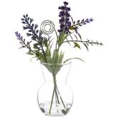 Lavender In Vase Card Holder