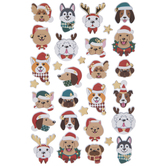 Christmas Dogs 3D Stickers
