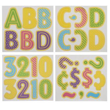 Foil Confetti Letters, Numbers & Symbols