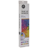 Abstract Floral Paint By Number Kit