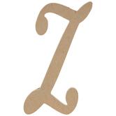 "Uppercase Script Wood Letter Z - 6"""