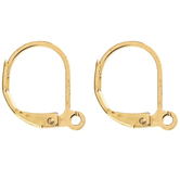 18K Gold Plated Lever-Back Ear Wires - 16mm
