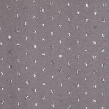 Gray Chevron Knit Fabric