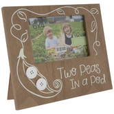 "Two Peas In A Pod Wood Frame - 6"" x 4"""