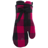 Black & Pink Oven Mitt & Kitchen Towels