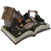 Gnome Fairy Garden Book Decor
