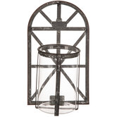 Distressed Arch Metal Wall Sconce