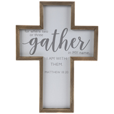 Matthew 18:20 Wood Wall Cross