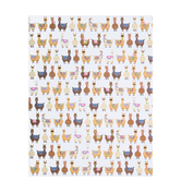 """Fun Llamas Scrapbook Paper - 8 1/2"""" x 11"""""""
