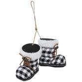 Buffalo Check Snow Boots Ornaments