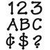 Black Dot Alphabet Cutouts