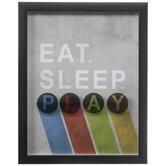 Eat Sleep Play Framed Wall Decor