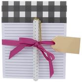 Buffalo Check Notepad & Pen