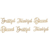 Thankful, Grateful & Blessed Wood Cutouts