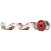 """Red Truck Wired Edge Ribbon - 2 1/2"""""""