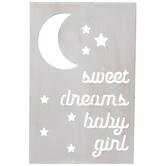 Sweet Dreams Baby Girl Wood Wall Decor