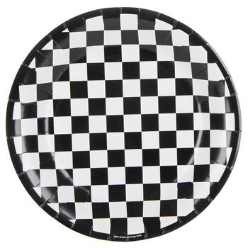 Checkered Flag Paper Plates - Large
