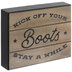 Kick Off Your Boots Wood Decor