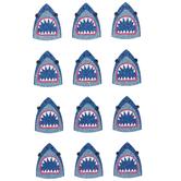 Blue Sharks Glitter Stickers