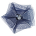 Navy Pearl & Rhinestone Organza Flowers