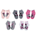 Pink, Black & Gray Minnie Mouse Ankle Socks