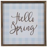 Hello Spring Wood Wall Decor