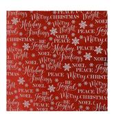 Sentiments & Snowflakes Foil Gift Wrap