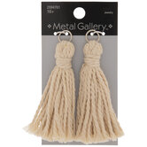 Cream Rope Tassel Pendants